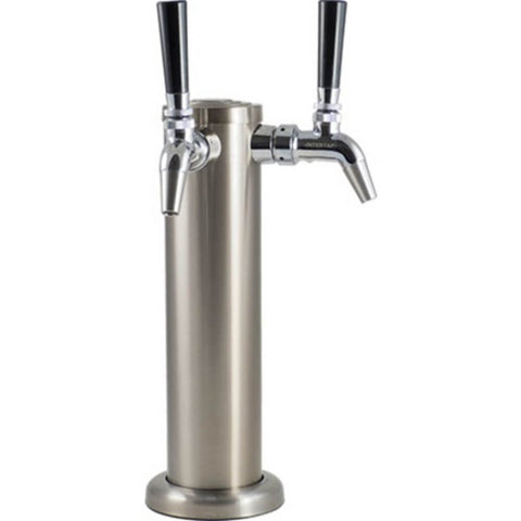 KOMOS Double Tap Stainless Draft Tower with Intertap Faucets and Duotight Fittings (Model: D1331B)