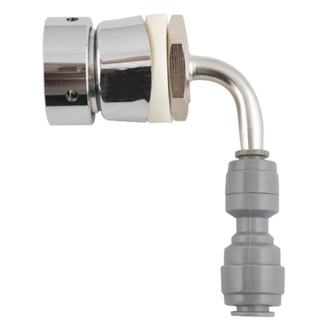 Image of KOMOS Triple Tap Stainless Draft Tower with Intertap Faucets and Duotight Fittings (Model: D1331C)