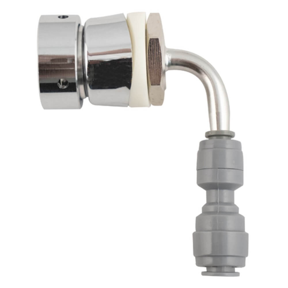 KOMOS Quad Tap Stainless Draft Tower with Intertap Faucets and Duotight Fittings (Model: D1331D)