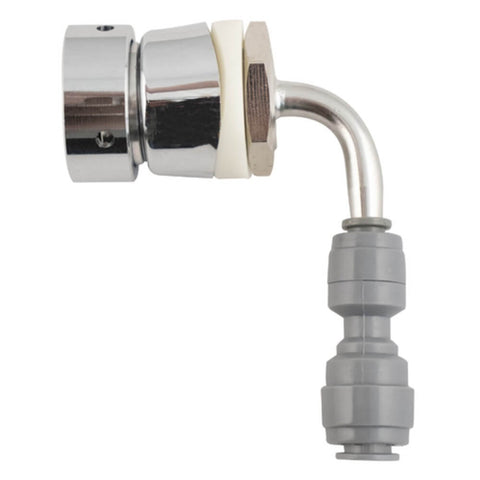 Image of KOMOS Quad Tap Stainless Draft Tower with Intertap Faucets and Duotight Fittings (Model: D1331D)