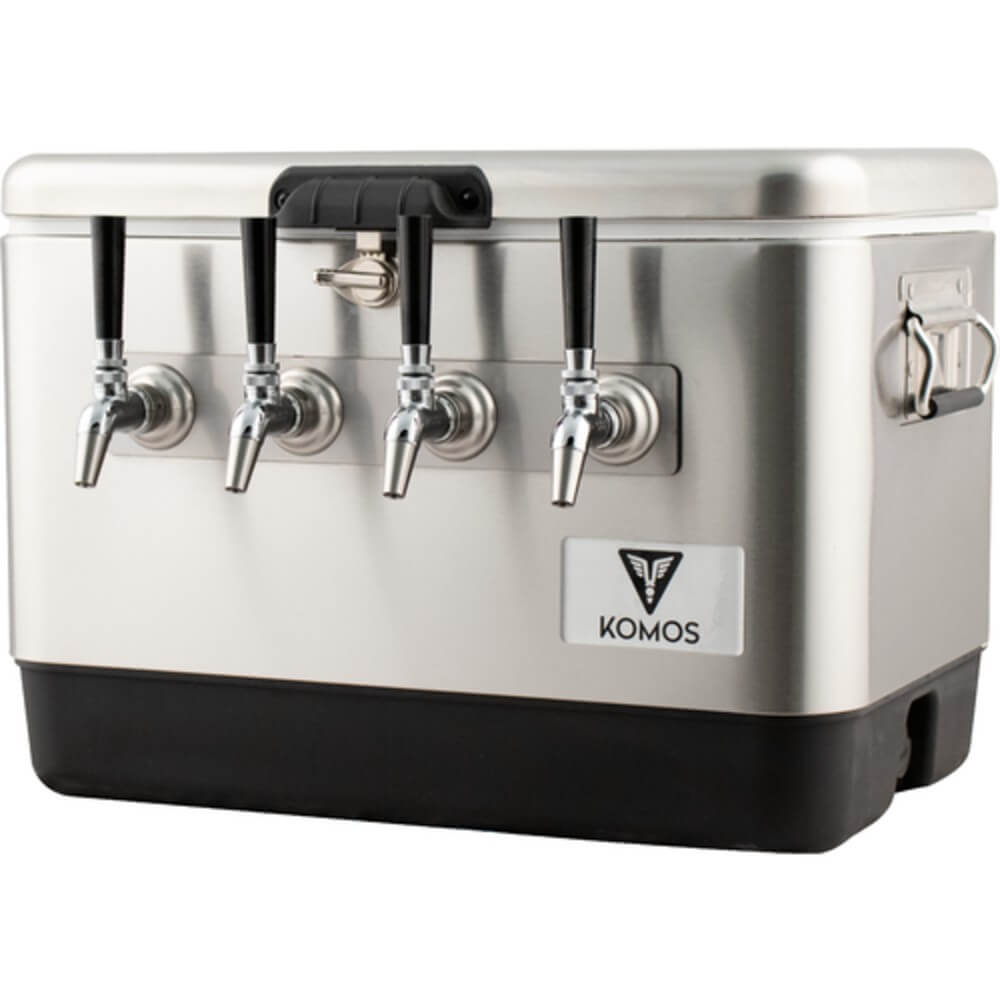 KOMOS Stainless Steel Quad Tap Draft Jockey Box (Model: D1914)