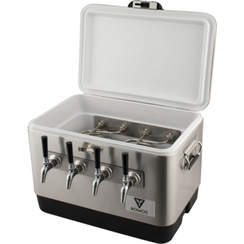 Image of KOMOS Stainless Steel Quad Tap Draft Jockey Box (Model: D1914)
