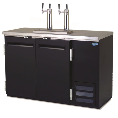 Image of Fogel Draft Beer Dispenser, Black Steel Exterior