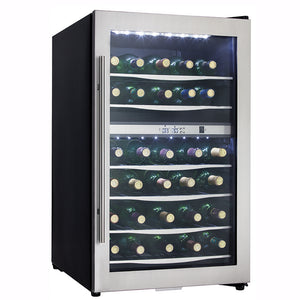 Danby Designer Freestanding Dual Zone Black/Stainless Steel Wine Cooler