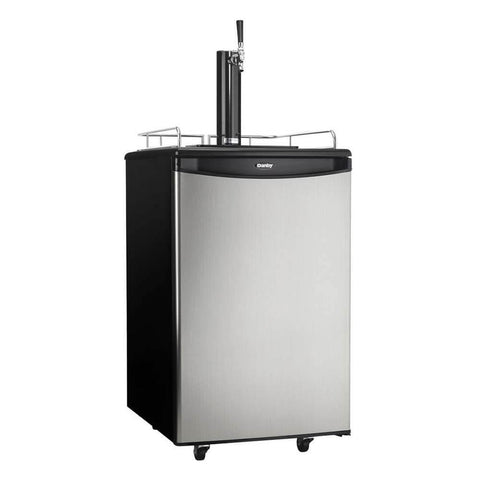 Danby 21 Inch 5.4 Cu. Ft. Single Tap Freestanding Beer Kegerator with Reversible Door Hinge (Model: DKC054A1BSLDB)