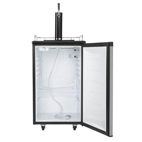 Image of Danby 21 Inch 5.4 Cu. Ft. Single Tap Freestanding Beer Kegerator with Reversible Door Hinge (Model: DKC054A1BSLDB)