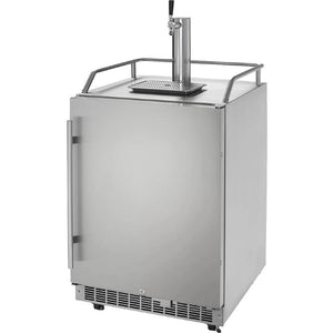 Danby 6.5 Cu Ft. Silhouette Professional Freestanding Outdoor Single Tap Beer Kegerator, Stainless Steel (Model: DKC055D1SSPRO)