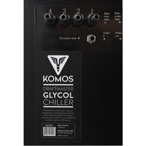 Image of KOMOS 304 Stainless Steel Draft Master Glycol Chiller (Model: GLY352)