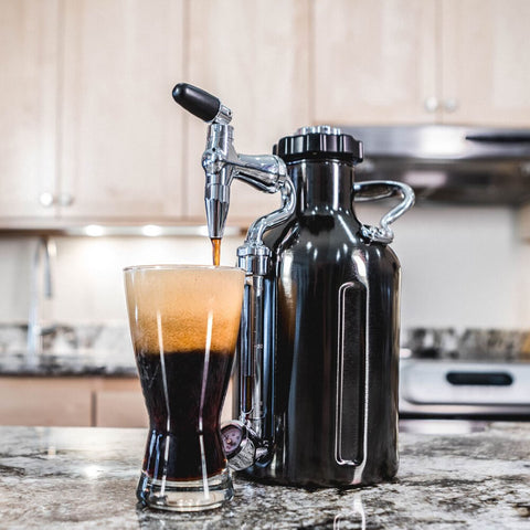 GrowlerWerks UKeg Nitro 50 oz Cold Brew Coffee Maker, Black Chrome (Model: GWA1058-BC-NB-N2)