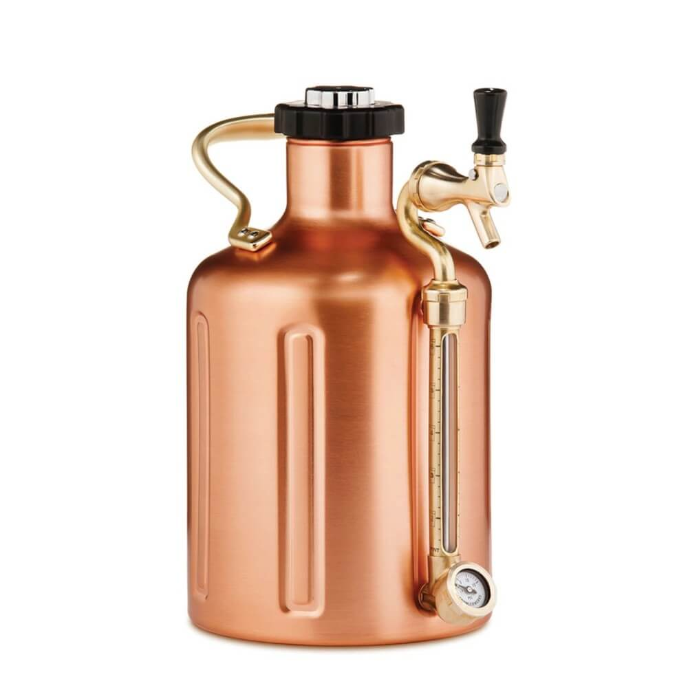 GrowlerWerks UKeg 128 oz Copper Pressurized Carbonated Growler (Model: GWA1002-CU-NB-00)