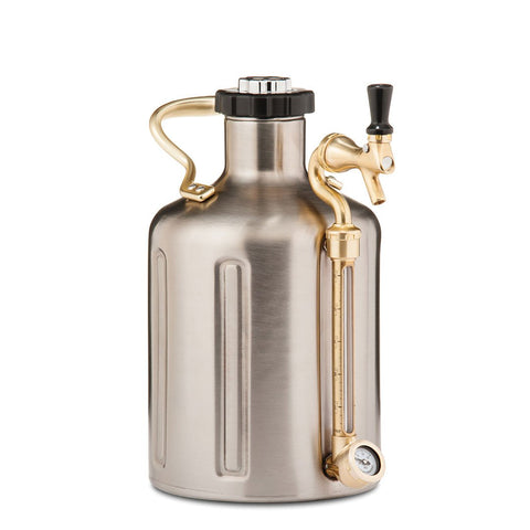 GrowlerWerks UKeg 128 oz Stainless Steel Pressurized Carbonated Growler (Model: GWA1002-ST-NB-00)