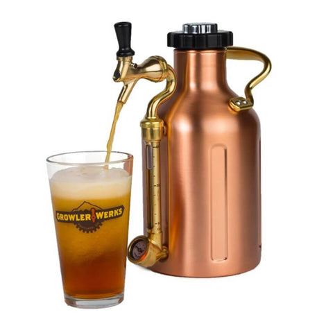 GrowlerWerks UKeg 64 oz Copper Pressurized Carbonated Growler (Model: GWA1001-CU-NB-00)