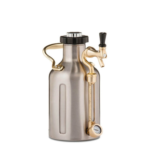 GrowlerWerks UKeg 64 oz Stainless Steel Pressurized Carbonated Growler (Model: GWA1001-ST-NB-00)
