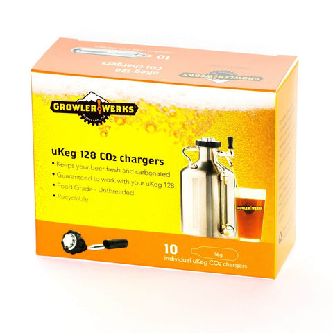 GrowlerWerks 16 Gram CO2 Cartridge (Package of 10)