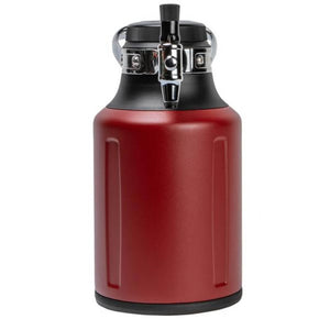 GrowlerWerks UKeg 64 oz Chili Pressurized Carbonated Growler (Model: GWA1062-RD-NB  )