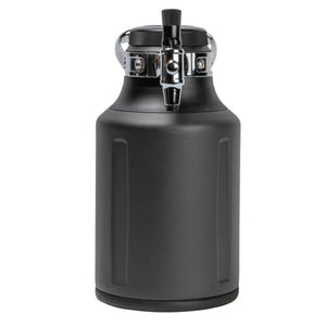 GrowlerWerks UKeg 64 oz Tungsten Pressurized Carbonated Growler (Model: GWA1062-TS-NB )