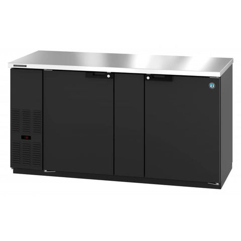 Image of Hoshizaki HBB-3-69 Two Section Black Vinyl Back Bar (Model: HBB-3-69)