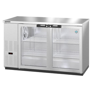 Hoshizaki BB59-G-S Two Section Glass Doors Stainless Steel Back Bar (Model: BB59-G-S)