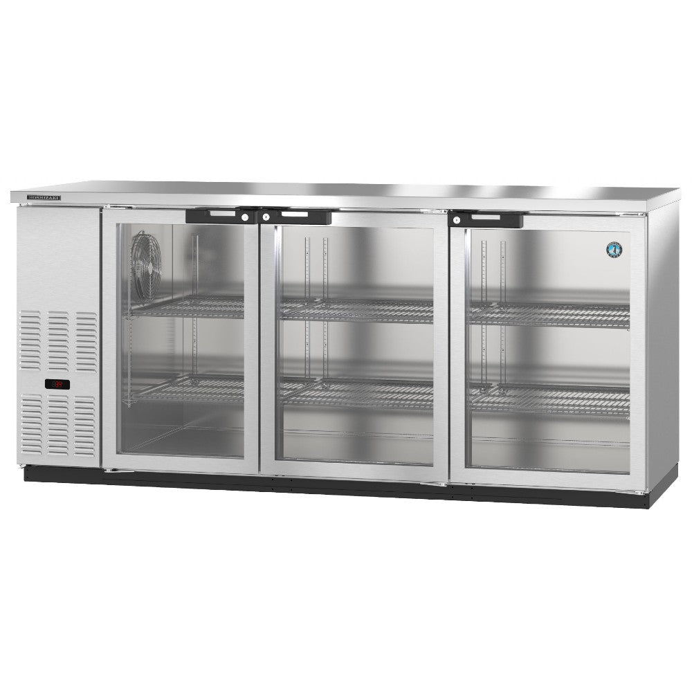 Hoshizaki BB80-G-S Three Section  Glass Doors Stainless Steel Back Bar (Model: BB80-G-S)