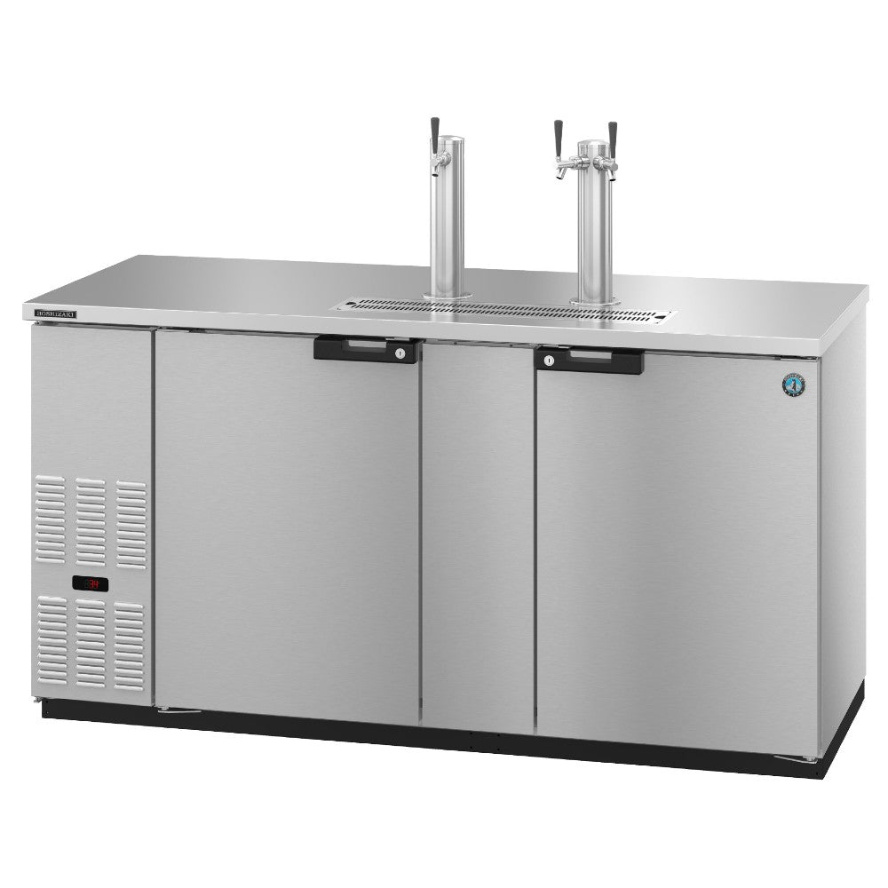 Hoshizaki DD69-S Two Section Solid Doors Stainless Steel Back Bar Direct Draw  (Model: DD69-S)