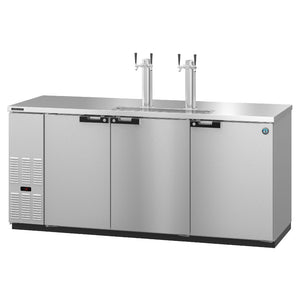 Hoshizaki DD80-S Three Section Solid Doors Stainless Steel Back Bar Direct Draw (Model: DD80-S)