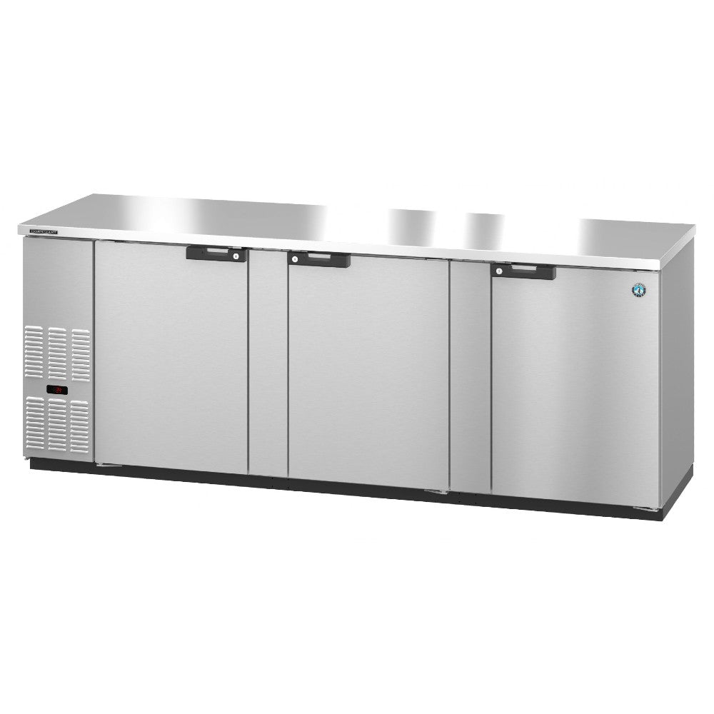 Hoshizaki Three Section Solid Doors Stainless Steel Back Bar (Model: BB95-S)