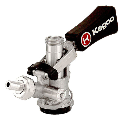Kegco D System Ergonomic Keg Coupler with Lever Handle and Stainless Steel Probe (Model: KTS97D-W)