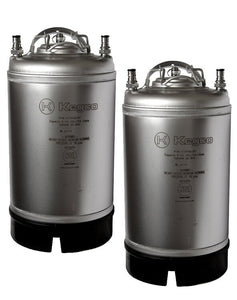 Kegco 3 Gallon Home Brew Beer Kegs - Ball Lock Strap Handle (Model: SET2-3G-SH)