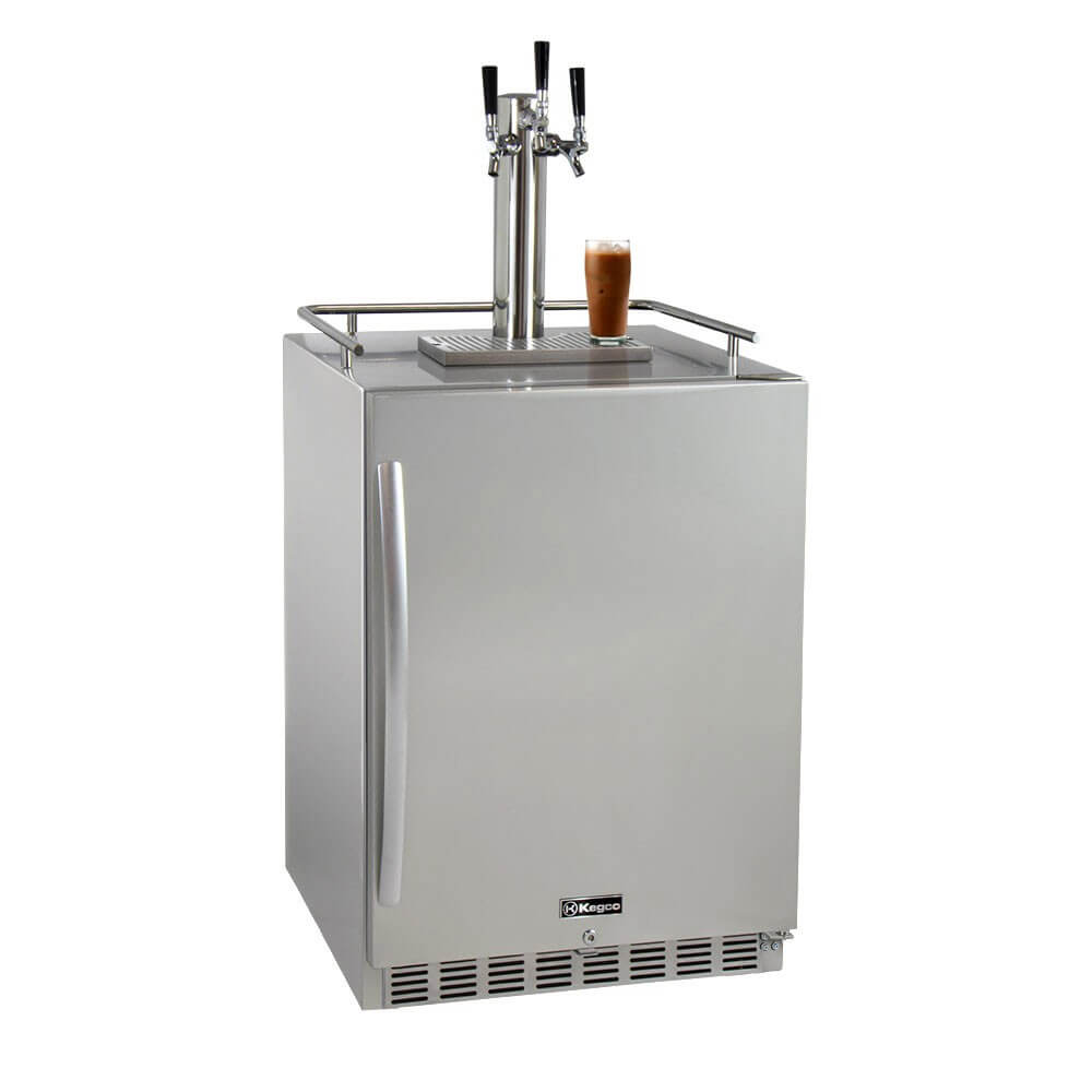 Kegco Triple Tap Stainless Steel Outdoor Cold Brew Coffee Home Kegerators