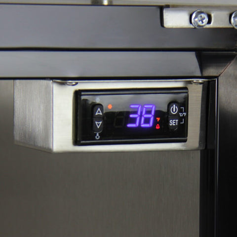 Image of Kegco Triple Tap Stainless Steel Built In Right Hinge Home Kegerators