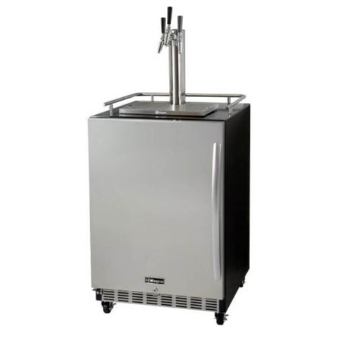 Kegco Triple Tap Stainless Steel Built In LeftHinge Home Kegerators