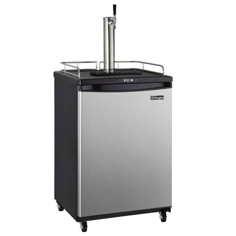 Image of Kegco HBK163S-1NK Single Tap Stainless Steel Black Commercial Residential Digital Kegerator