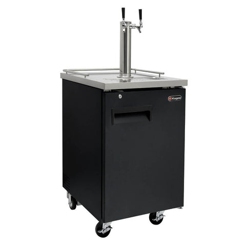 Image of Kegco HBK1XB-2 Dual Tap Black Commercial Kegerators