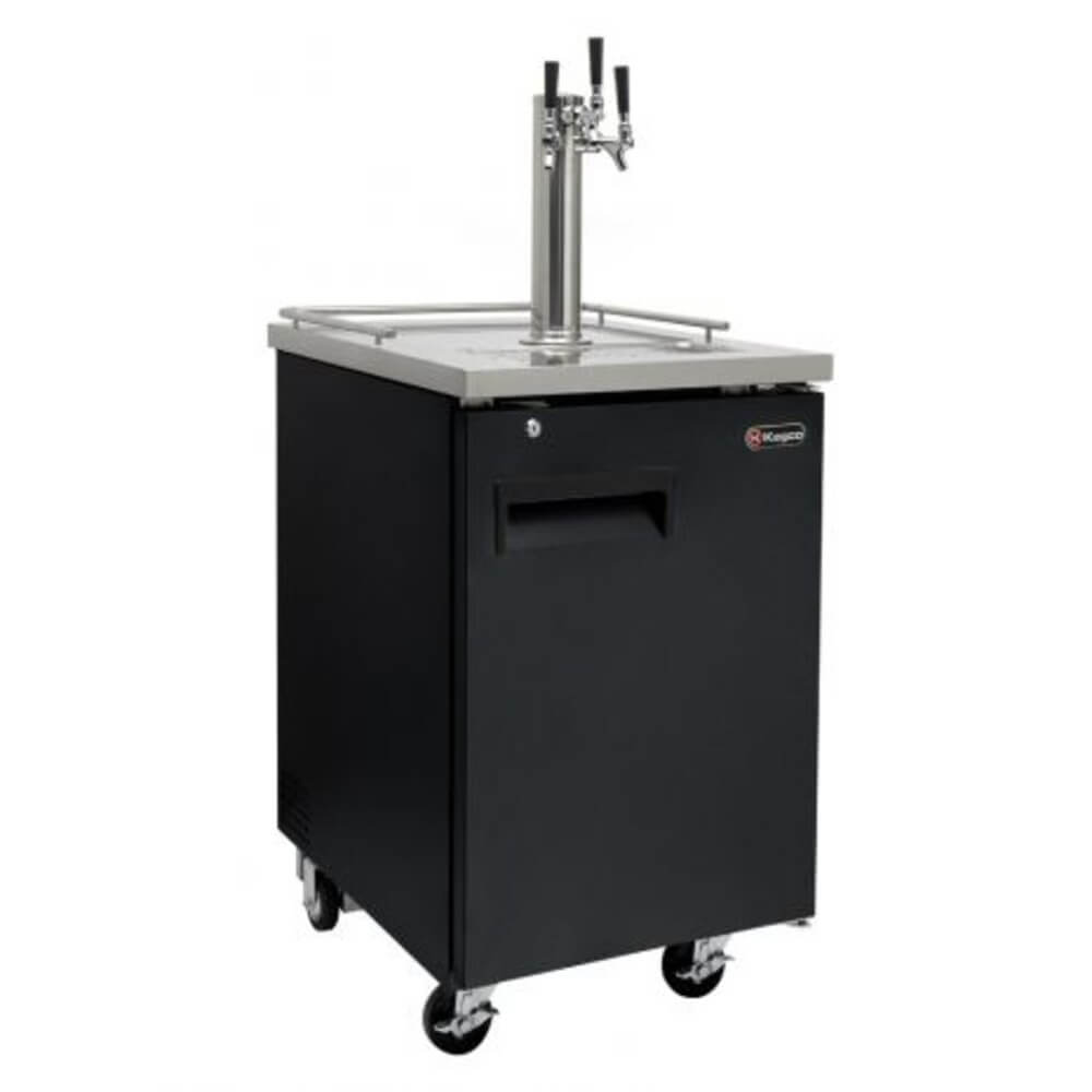 Kegco HBK1XB-3 Triple Tap Black Commercial Kegerators