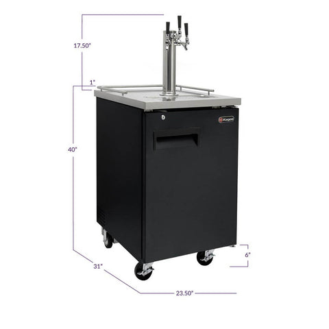 Image of Kegco HBK1XB-3 Triple Tap Black Commercial Kegerators