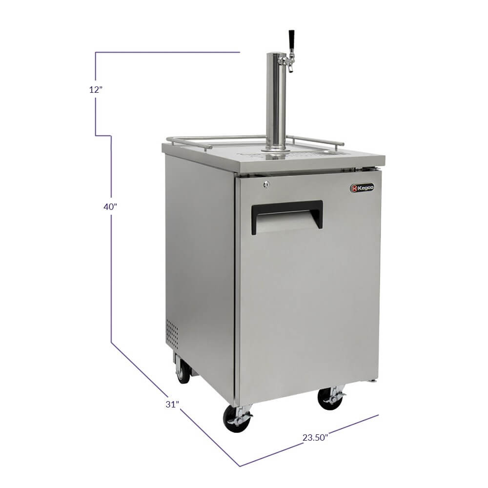 KegcoHBK1XS-1 Single Tap Stainless Steel Commercial Kegerators