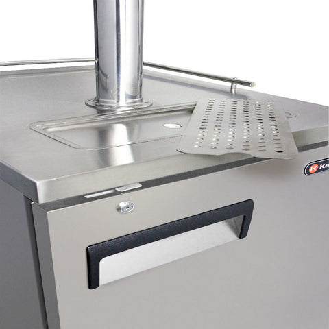 Image of KegcoHBK1XS-1 Single Tap Stainless Steel Commercial Kegerators