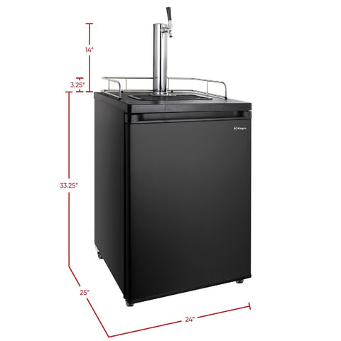 Kegco HBK209B-1NK Freestanding Black Single Tap Homebrew Kegerator