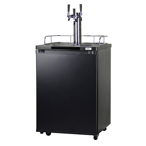 Kegco HBK209B-3NK Freestanding Homebrew Indoor Triple Tap Black Kegerator