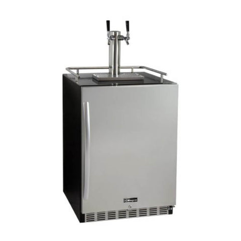 Kegco Right Hinge Kegerator  Left Hinge Kegerator  Indoor  Home Kegerators  Dual Tap  Built-In