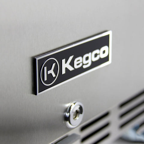 "Image of Kegco 24"" Wide Double Tap Stainless Steel Built-In Kegerator with Kit HK38BSU-2"