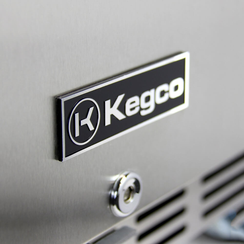 Kegco Triple Tap  Stainless Steel Built-In Indoor Right Hinge Home Kegerators