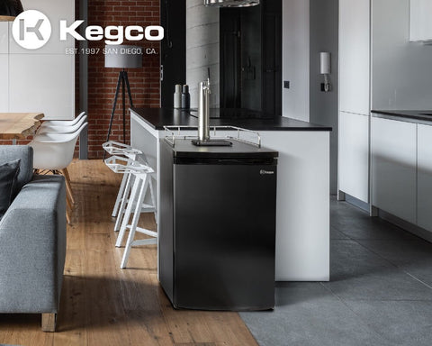 Image of Kegco ICK19B-1NK Freestanding Black Single Tap Cold Brew Coffee Kegerator