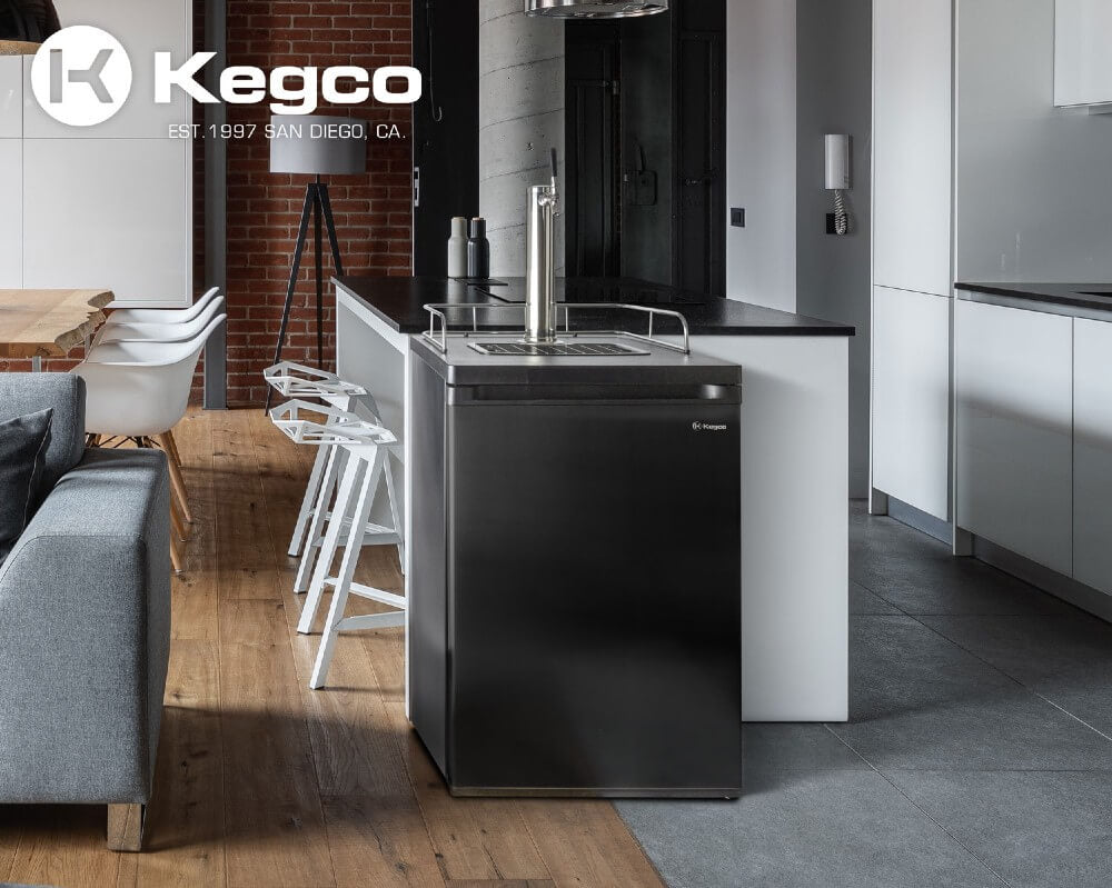 Kegco ICK20B-1NK Freestanding Black Single Tap Cold Brew Coffee Kegerator