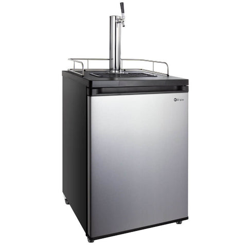 "Image of Kegco 24"" Wide Freestanding Indoor Single Tap Stainless Steel Cold Brew Coffee Kegerator (Model: ICK20S-1NK)"
