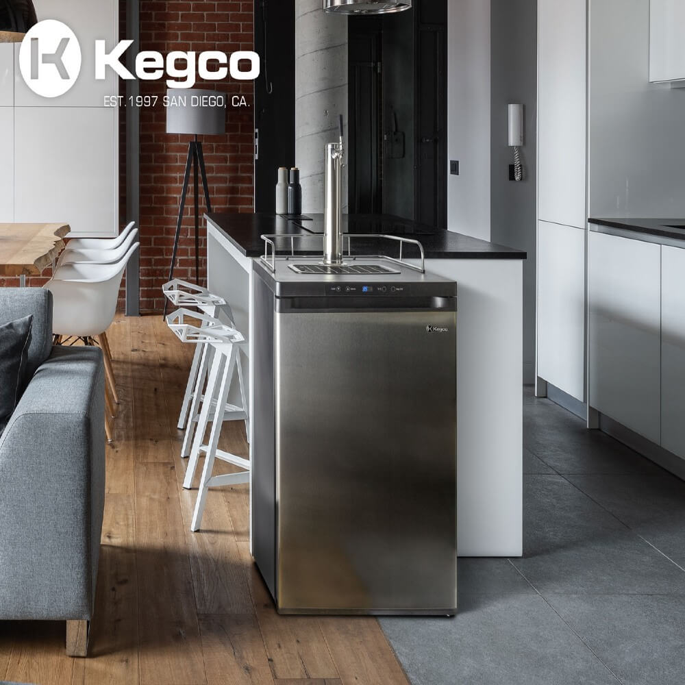 "Kegco 24"" Wide Freestanding Indoor Single Tap Stainless Steel Cold Brew Coffee Kegerator (Model: ICK20S-1NK)"