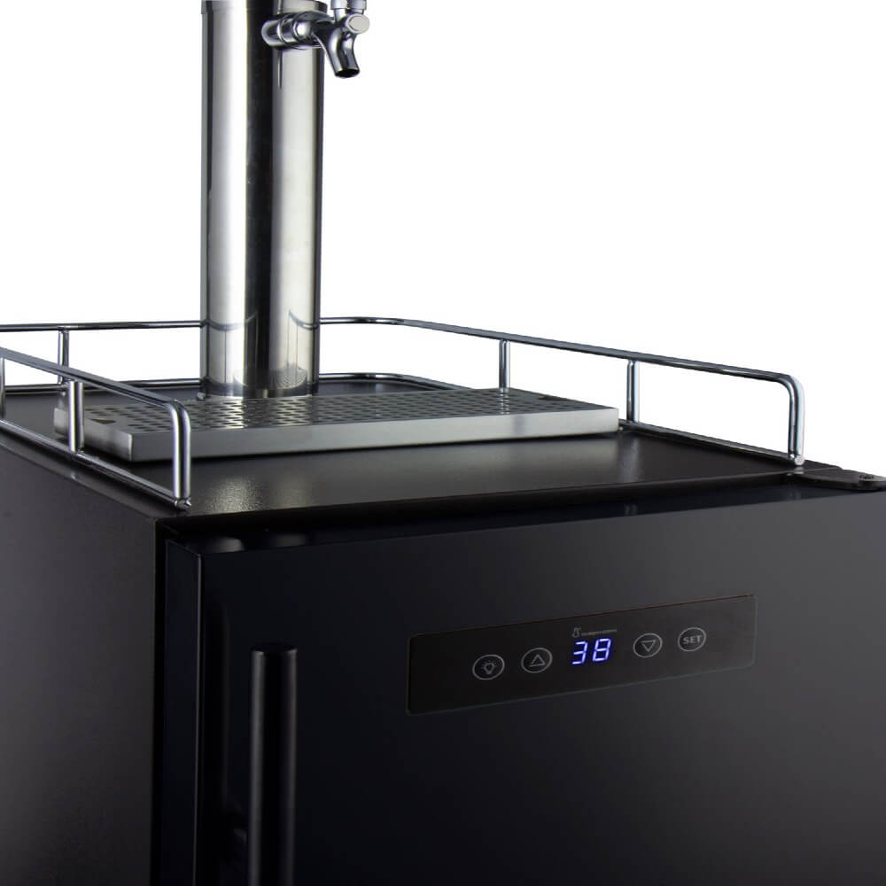 Kegco ICS15BBRNK Freestanding Black Single Tap Cold Brew Coffee Commercial Kegerator