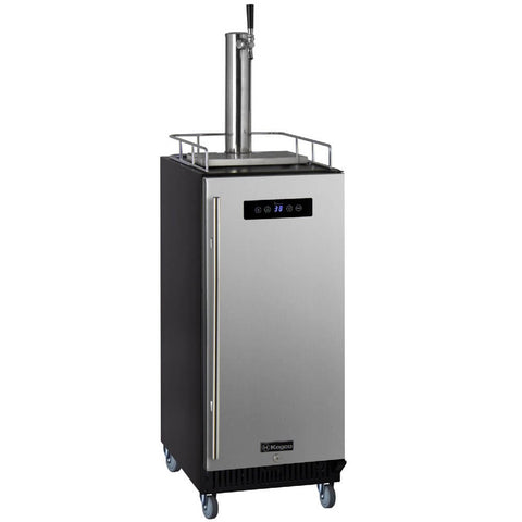 Image of Kegco ICS15BSRNK Freestanding Stainless Steel Single Tap Cold Brew Coffee Commercial Kegerator