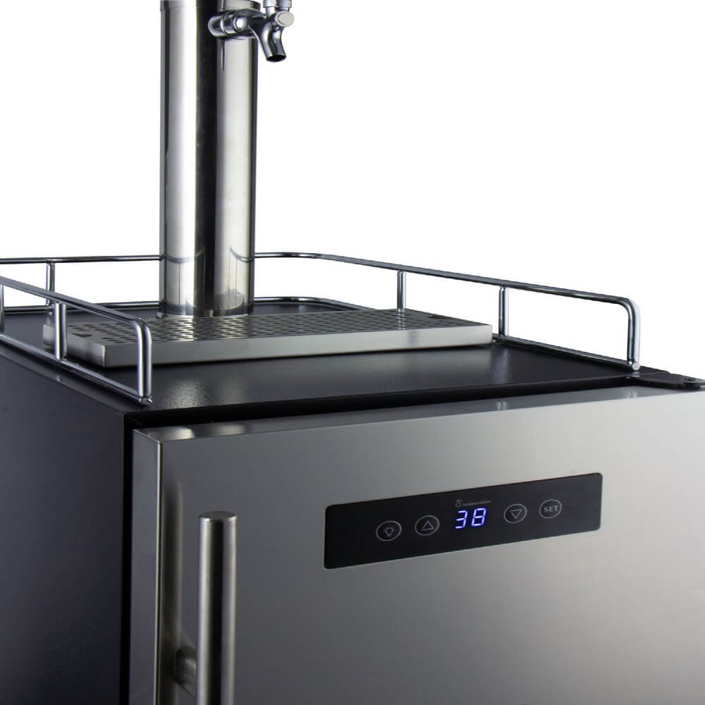 Kegco ICS15BSRNK Freestanding Stainless Steel Single Tap Cold Brew Coffee Commercial Kegerator