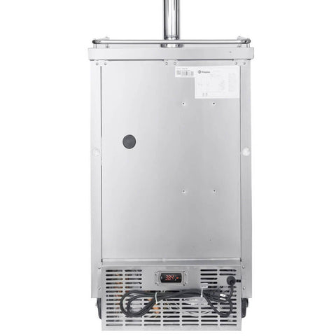 "Image of Kegco 24"" Wide Cold Brew Coffee Triple Tap Commercial Kegerator  - Stainless Steel (Model: ICXCK-1S-3)"